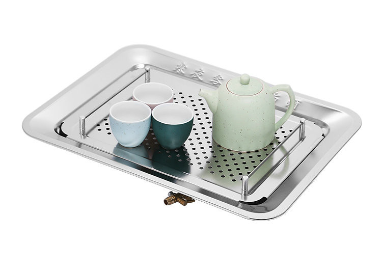 Rectangle Stainless Steel Tea Tray 3 Variations