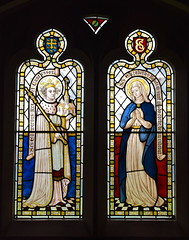 St Edward the Confessor and St Elizabeth (possibly Munro Cautley, 1920s?)
