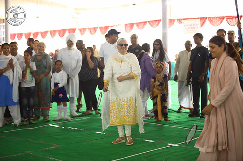 Blessings by Satguru Mata Ji at pavilion of Badminton
