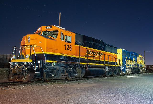 BNSF 126 (GP60M-3) BNSF Kaiser Yard  Fontana, California