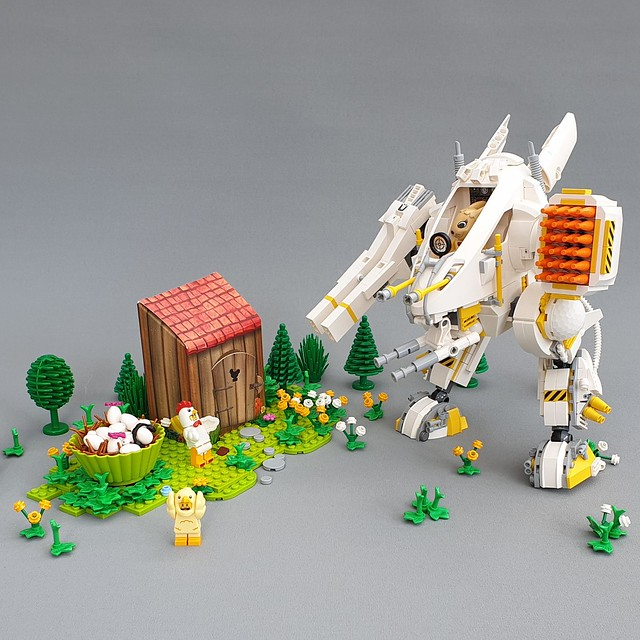 Egg Hunting Bunny Mech