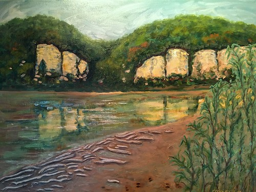 """Missouri River Bluffs"" by Ruthie Moccia 