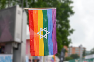 Gay Pride Flag with David's Star