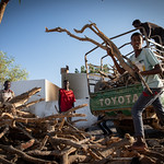 IOM Djibouti - Delivery of wood for the kitchen