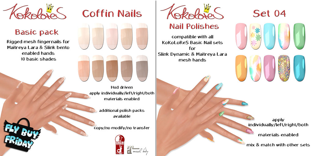 [KoKoLoReS] Basic Nails Coffin for FLF!