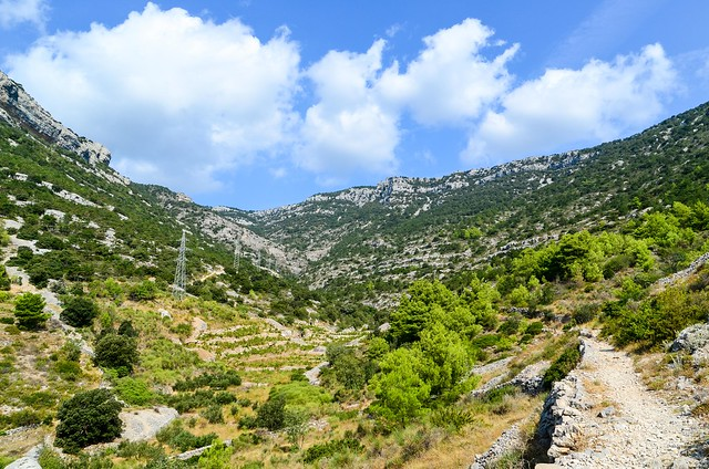 Hiking up to Vidova Gora, the highest peak on the island of Brač