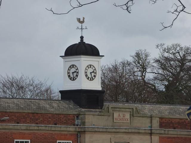The Blue Coat School, Edgbaston - clock tower and weather vane