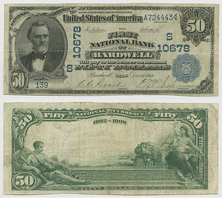 United States $50.00 (fifty dollars) national currency