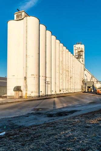 grain elevator ag agricultural industrial sunrise