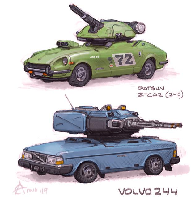 Volvo 244 & Z-car tanks