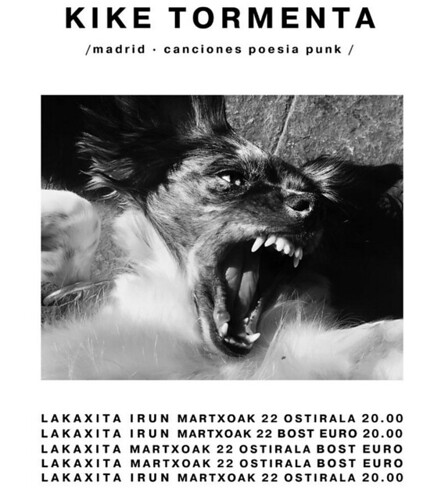 Cartel del concierto d eKike Tormenta en Lakaxita, Irun | by Angula Berria