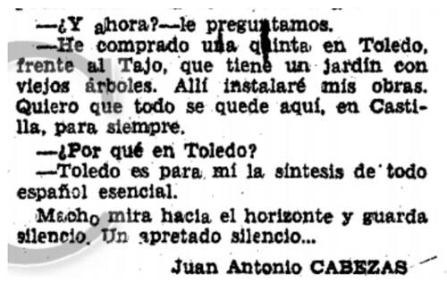 Entrevista a Victorio Macho el 23 de noviembre de 1952 en ABC | by eduardoasb