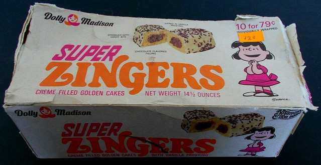 1970 Dolly Madison Super Zingers Box