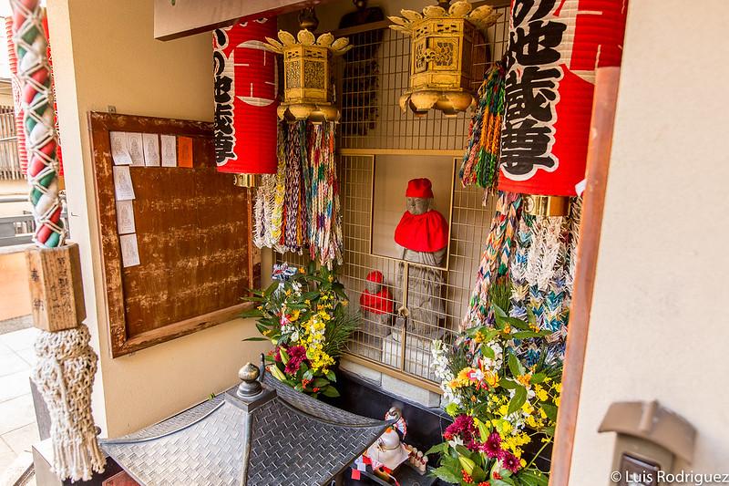 Imagen principal del pequeño altar dedicado a Jizo