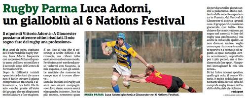 Gazzetta di Parma 10.04.19 - Speciale n. 4 pag 51 - Luca Adorni