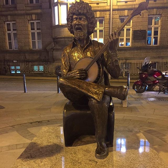 View from our office got a lot better today. Statue of Luke Kelly unveiled at King Street South #lukekelly #dubliner