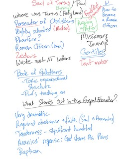 Notes from the first part of our study of Paul | by Wesley Fryer