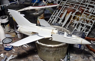 "1:72 EADS (Panavia) CA-182A ""Tornado""; aircraft ""(182)715"" of the Canadian Air Force 433 (Porcupine) Fighter Bomber Squadron; 3 Wing, CFB Bagotville (Quebec/Canada), 2004 (Whif/Revell kit) - WiP 