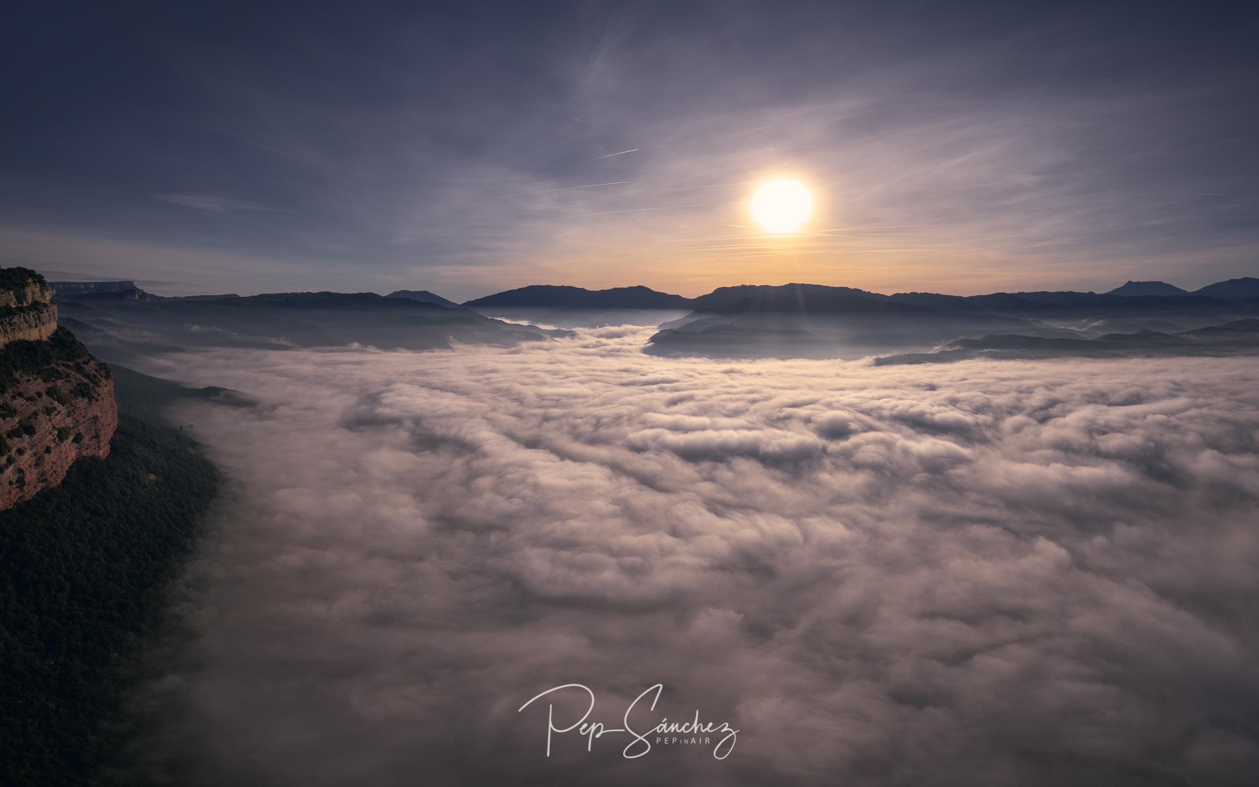 Between mists