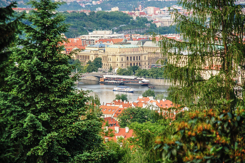 Restaurant Nebozizek 俯瞰伏爾塔瓦河