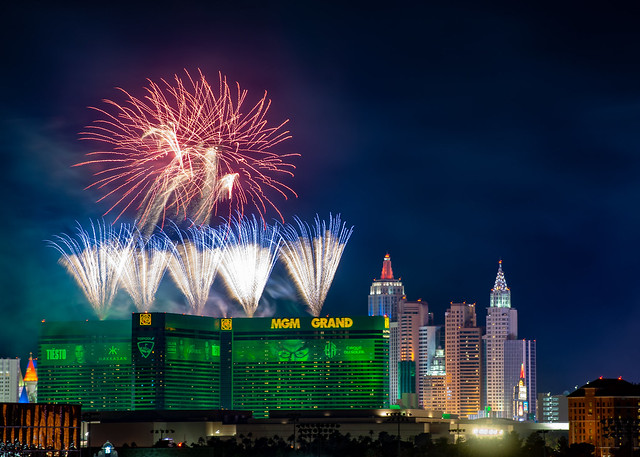 Fireworks above the MGM Grand