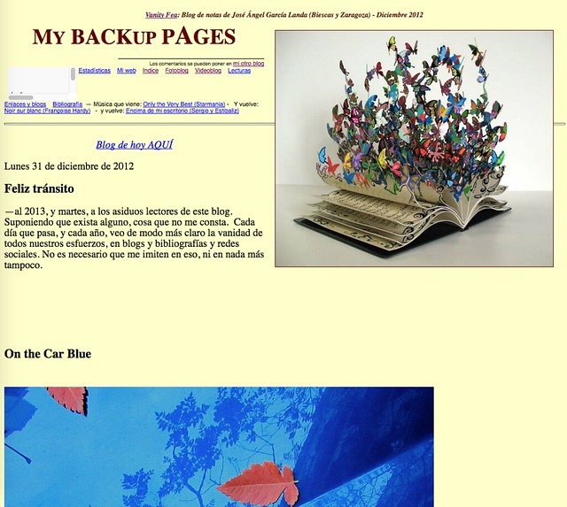 My Backup Pages: Blog de notas de diciembre de 2012