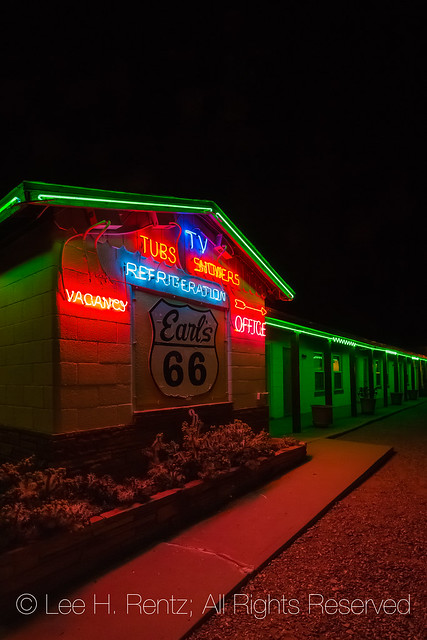 Earl's Motor Court along Historic Route 66