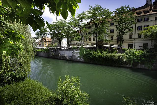 River Ljubljanica in Ljubljana - Slovenija