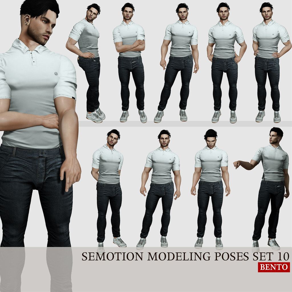 SEmotion Male Bento Modeling poses set 10