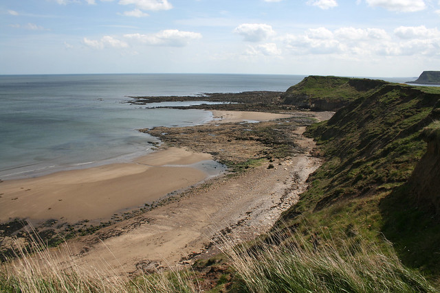 The coast north of Scalby Mills, North Yorkshire