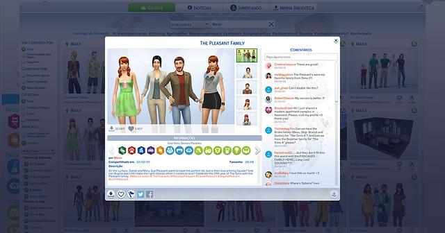The Sims 4: Família Dos Prazeres Disponível na Galeria