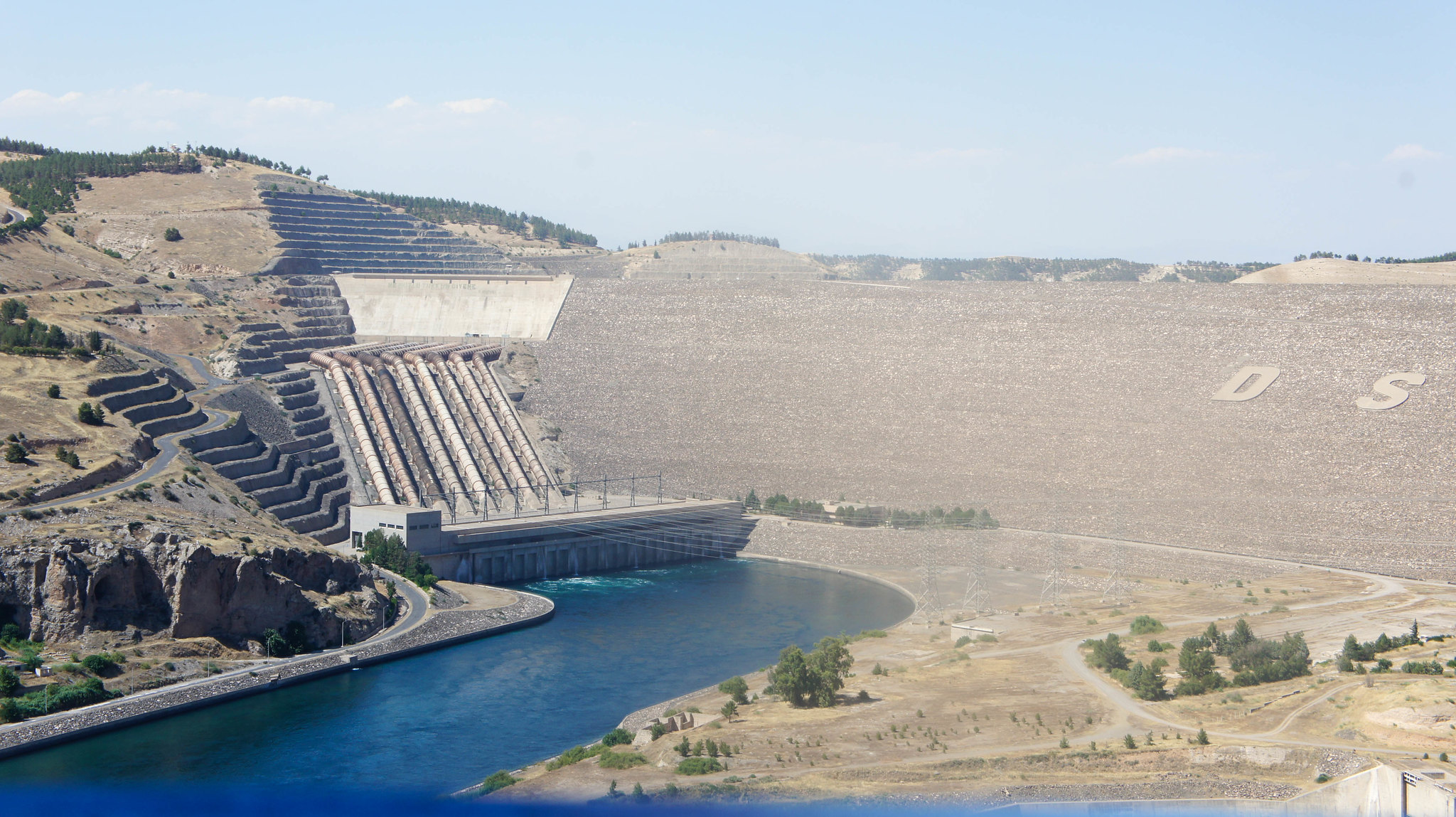 The Atatürk Dam - now also somewhat of a local landmark