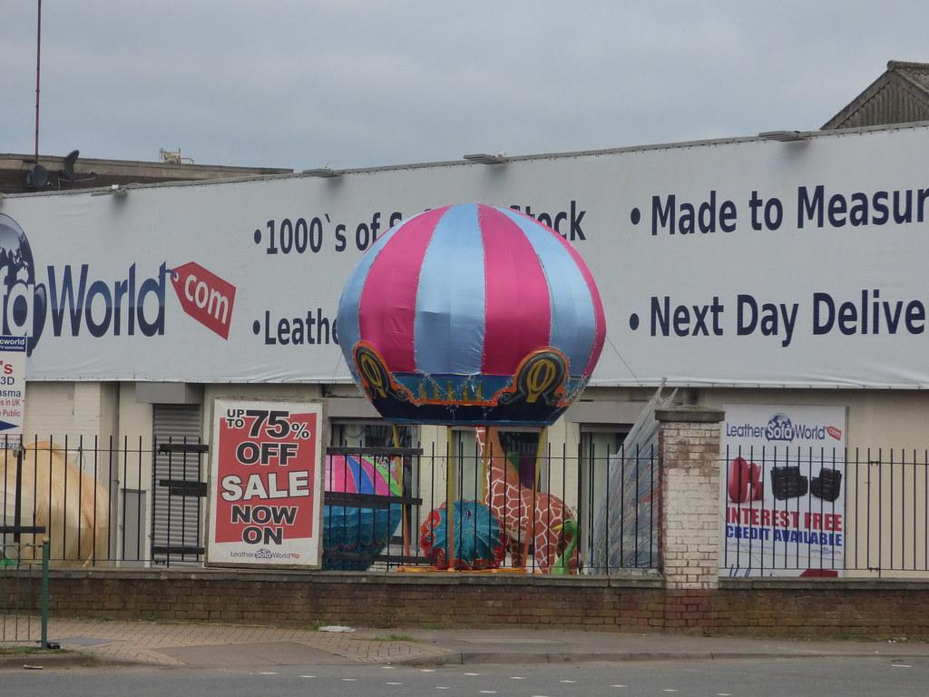 Leather Sofa World - Bromford Lane inflatables - Hot air b ...