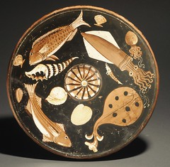 An Apulian Large Red-figure Fish plate from the Workshop of the Darius Painter and of the Perrone-Phrixos Group