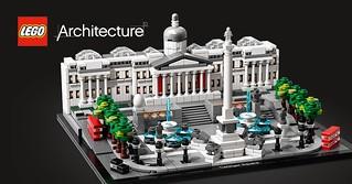 英國著名景點樂高化! 小小的雙層巴士超可愛~ LEGO 21045 建築系列【特拉法加廣場】Trafalgar Square 情報公開!!