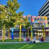 Autumn afternoon in #gardenplace #lovethetron:blue_heart: #library #outdoorgames #kirikiriroa