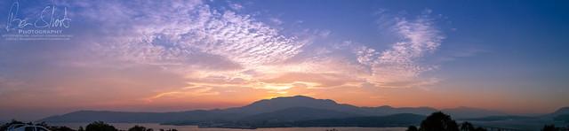 Smokey Hobart Sunset