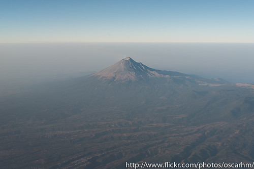 Popocatepetl from the sky