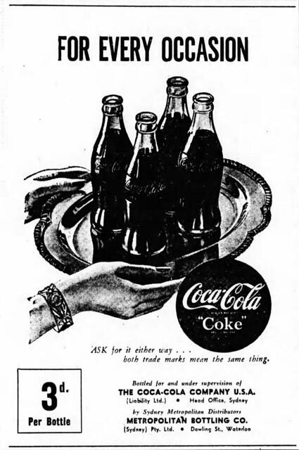 1948 advertisement for Coca-Cola