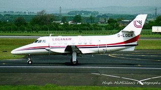 G-LOGR, at Glasgow Airport, Scotland.