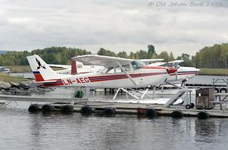 Cessna 172E LN-AEG @ Kilen Seaplanbase at ENFB/FBU 03-10-1998