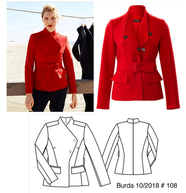 Burda Pink jacket pattern