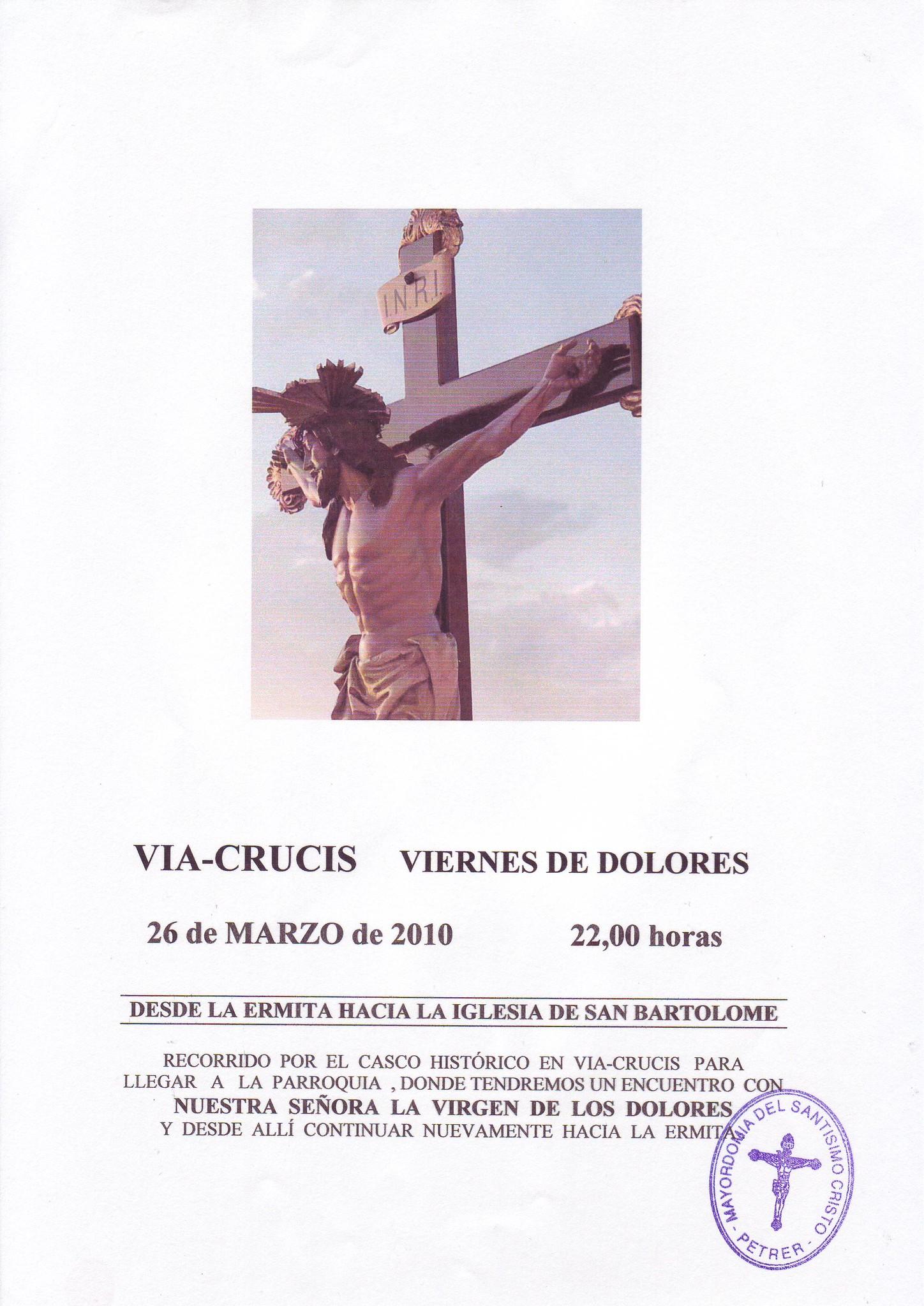 ElCristo - Historia - Documentos - (2010-03-26) - Cartel I Vía-Crucis nocturno