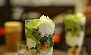 Milk cream with matcha | by phuong.sg@gmail.com