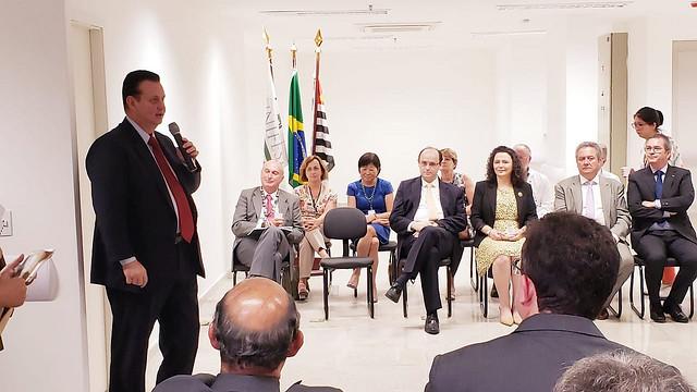 21/12/2018. São Paulo-SP. Ministro Gilberto Kassab, participa de cerimônia de entrega da Fase 1 das Obras do Hospital Universitário 2 da Universidade Federal de São Paulo (Unifesp). Fotos: Célio Soares/MCTIC.