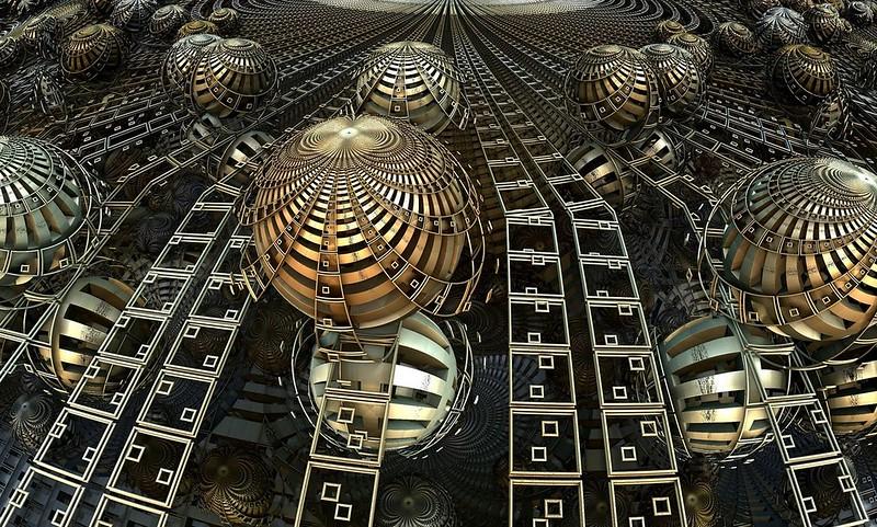 Обои шары, линии, фрактал, иллюзия картинки на рабочий стол, фото скачать бесплатно