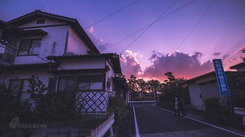 afterglow 晚霞 武雄 九州 takeo kyushu sunset 日本 japan takeoshrine 武雄神社