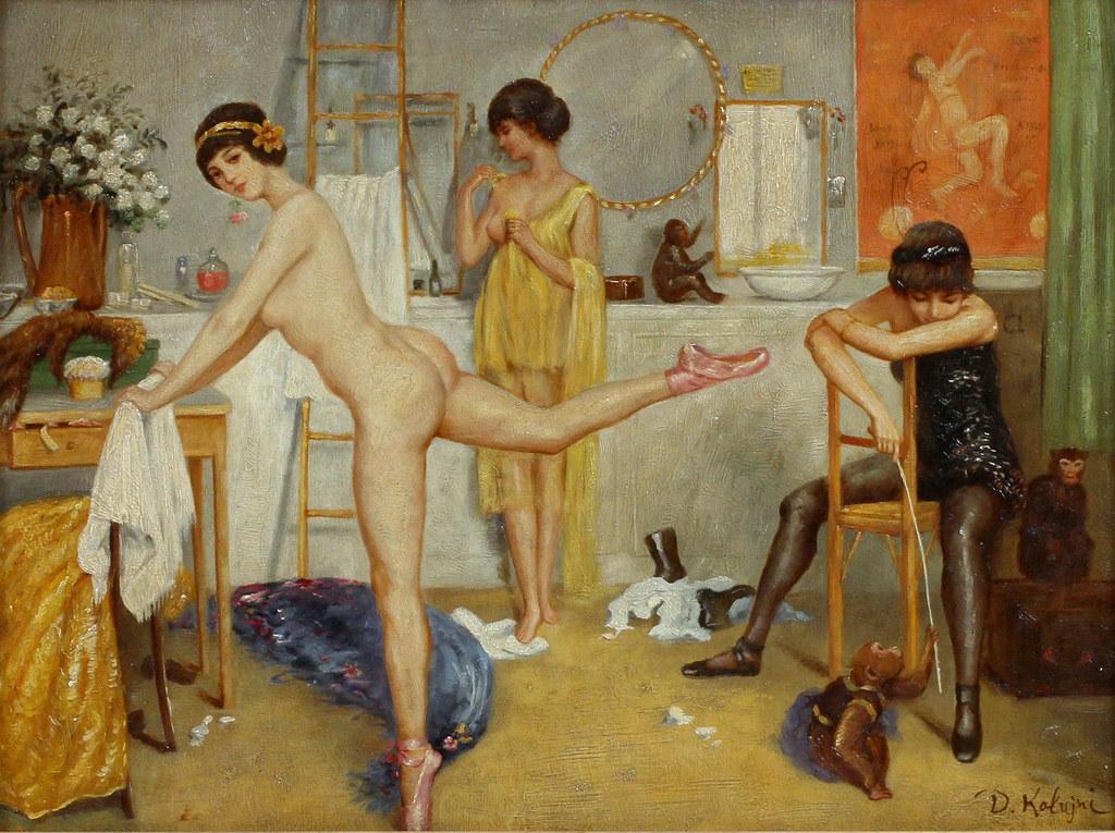Дмитрий Калюжный «Балерины в гримерной»