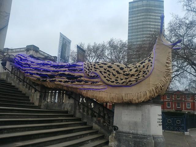 Giant Leopard Slugs 2018, Monster Chetwynd (Artist), Tate Britain, Millbank, SW1, City of Westminster, London