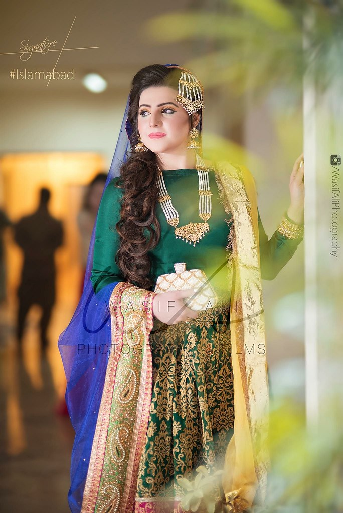 Lehenga \u0026 Sharara , Bride Bridal Party Wear , Mehndi Mayoo